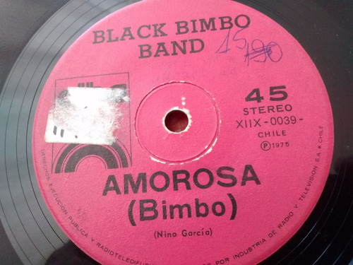 vinilo single de black bimbo band - salvaje y tierna( t48