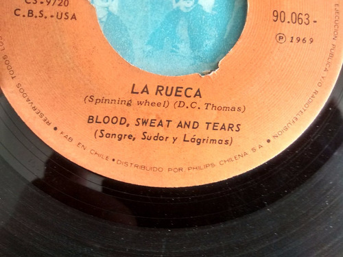 vinilo single de blood ,sweat & tears  --la rueca ( c60