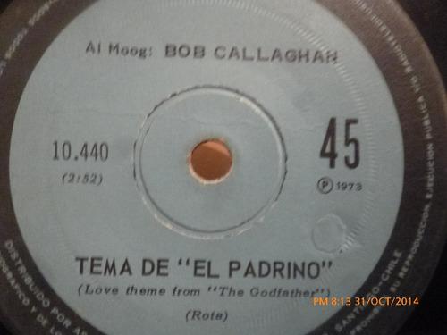 vinilo single de bob callaghan   tema del padrino -( b83