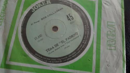 vinilo single de bob callaghan --tema del padrino( u57