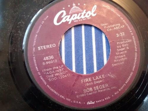 vinilo single de bob seger - long twin silver line ( k33