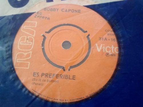 vinilo single de bobby capone -una lagrima( j46