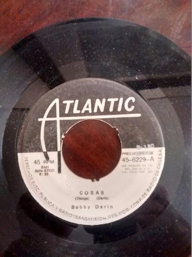 vinilo single de bobby darin  -cosas --( t139