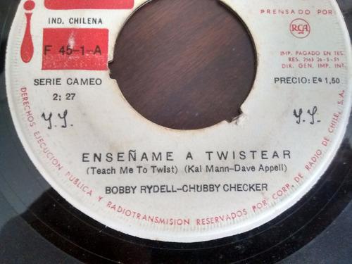 vinilo single de bobby rydell -bobby checker- enseñame( e64