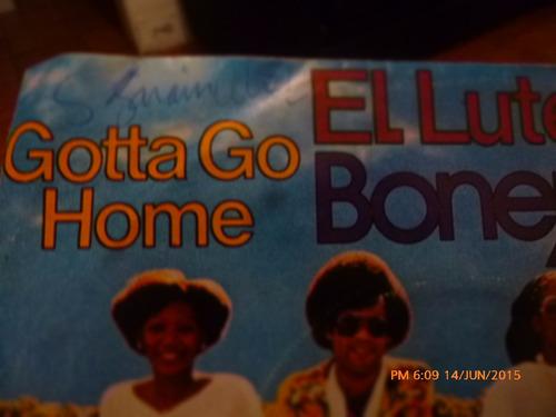 vinilo single de  boney m  -  gotta go home(q7