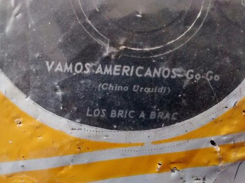 vinilo single de bric a brac - vamos americanos( f133