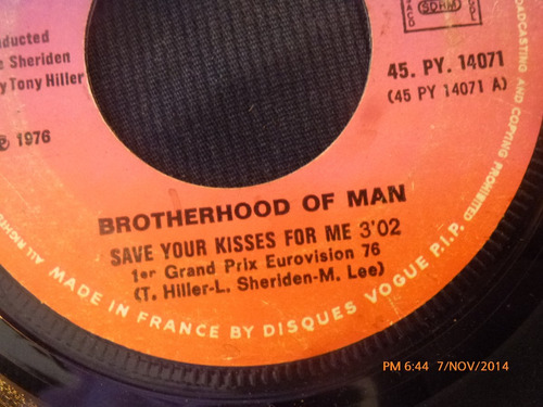 vinilo single de brotherhood of man -- lets love ( a76
