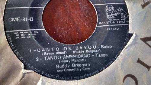 vinilo single de buddy bregman -tango americano( j61