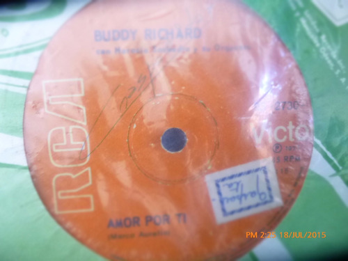 vinilo single de buddy richard -- amor por ti ( r84