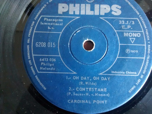 vinilo single de cardinal point - oh day  oh day ( p55