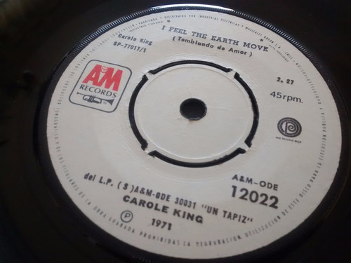 vinilo single de carole king - it's too late ( e110