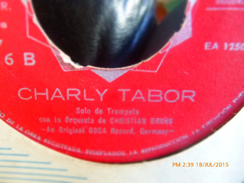 vinilo single de charly tabor  ( r124