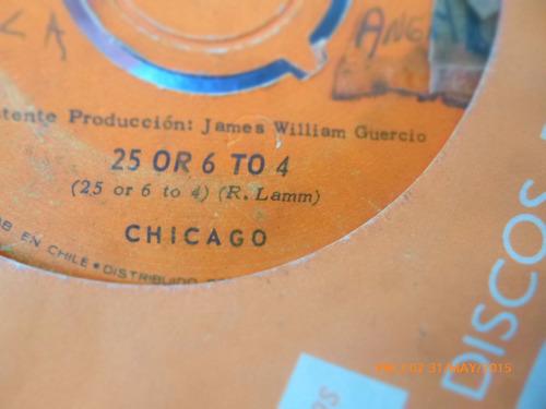 vinilo single de chicago hazme sonreir  ( h75