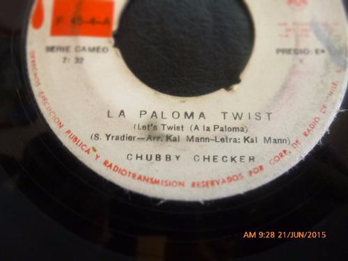 vinilo single de chubby cheker --la paloma twist ( n149
