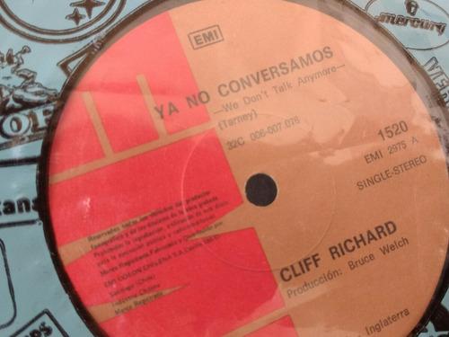 vinilo single de cliff richard no cuentes conmigo ( l -104