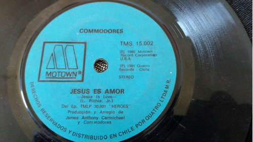 vinilo single de  commodores jesus es amor (o .-29