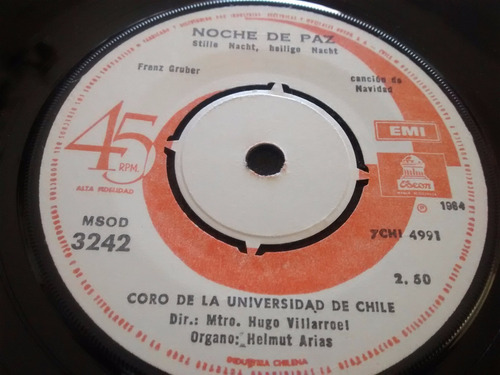 vinilo single de coro de la universidad de chile -( e98