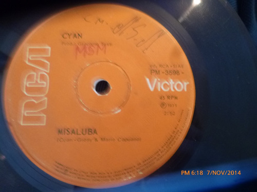 vinilo single  de cyan -- misaluba ( v22