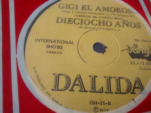 vinilo single de dalila - gigi el amoroso español -fra( e101