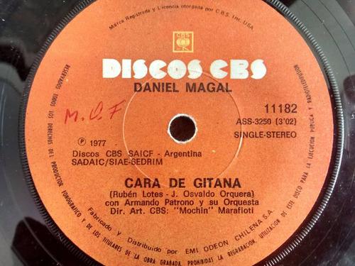 vinilo  single de  daniel magal - cara de gitana ( q131