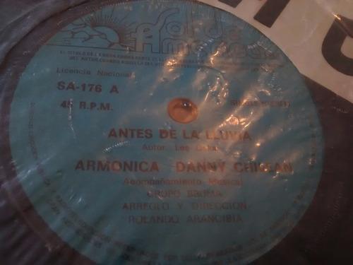 vinilo single de danny chilean - antes de la lluvia( p101