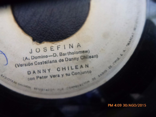 vinilo single de danny chilean  -josefina( u136