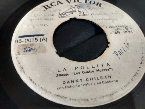 vinilo single de danny chilean - la pollita ( p133