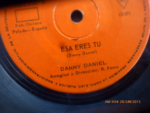 vinilo single de danny daniel -- esa eres tu  ( n111