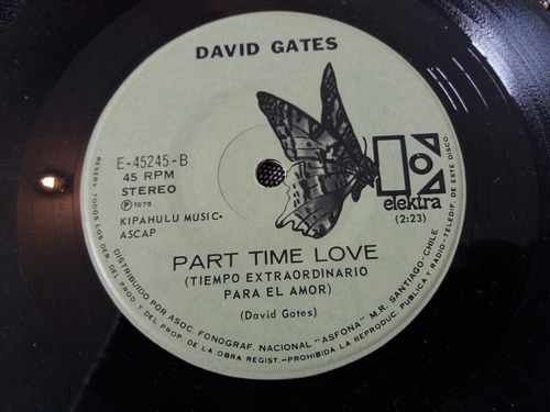 vinilo single de david gates chain me (v149