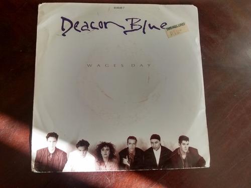 vinilo  single de deacon blue - take me to the  ( q109