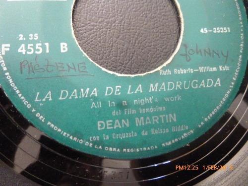 vinilo single de dean martin  bella niña ( a125
