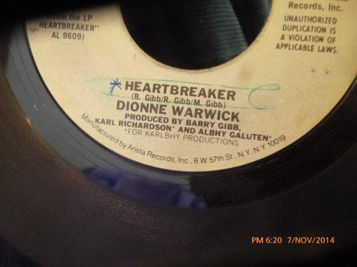 vinilo single  de dionne warwick -heartbreaker --  -( v12