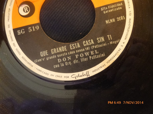 vinilo single de don powel -- que grnde esta casa sin ( a106