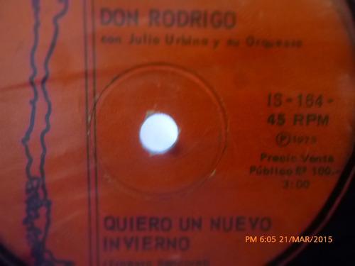 vinilo single de - don rodrigo - una fiesta en alparga( a60