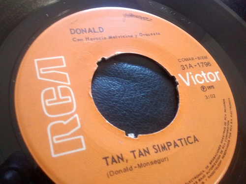 vinilo single de donald - scaba badi bidu / e97