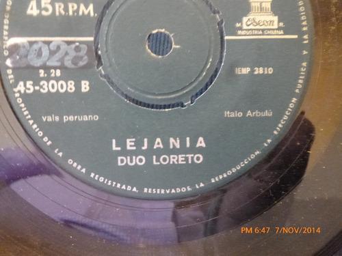 vinilo single de duo loreto -- lejania (a494