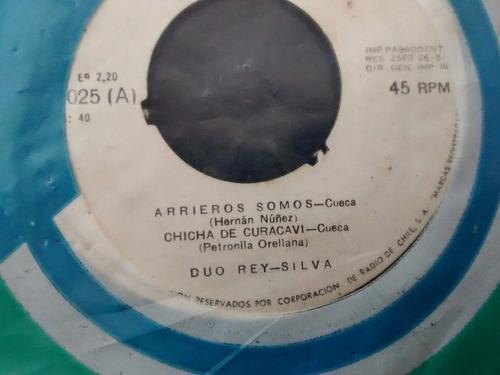 vinilo single de duo rey silva - chica de curacavi( k82