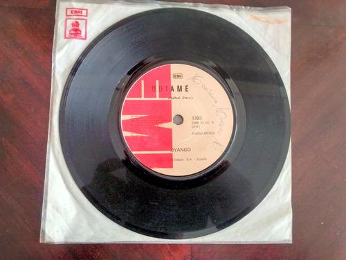 vinilo single de dyango  -odiame ( r12