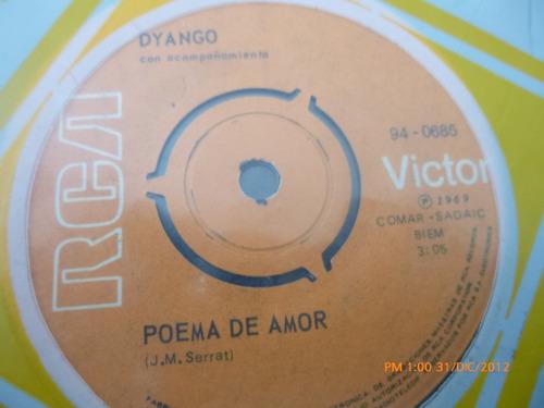 vinilo single  de dyango  poema de amor ( b101