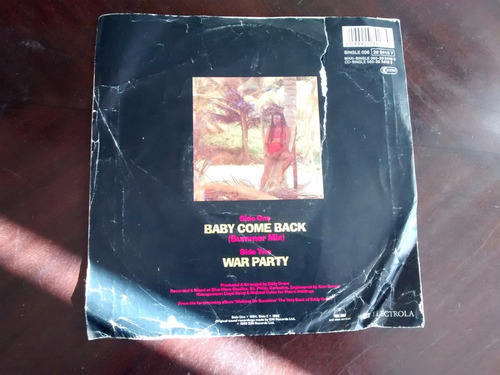 vinilo  single de eddy grant - baby come back( q121