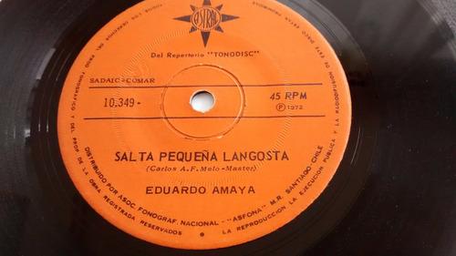 vinilo single de eduardo amaya  - salta pequeña ( c47