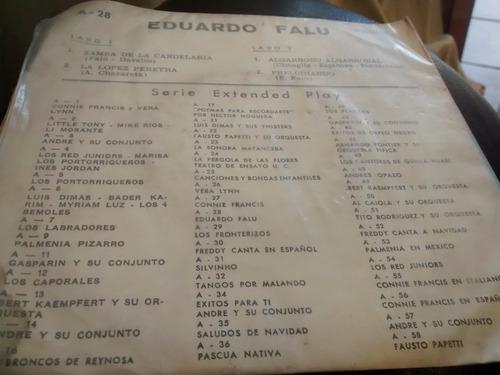 vinilo single de eduardo falu - preludiando( t44