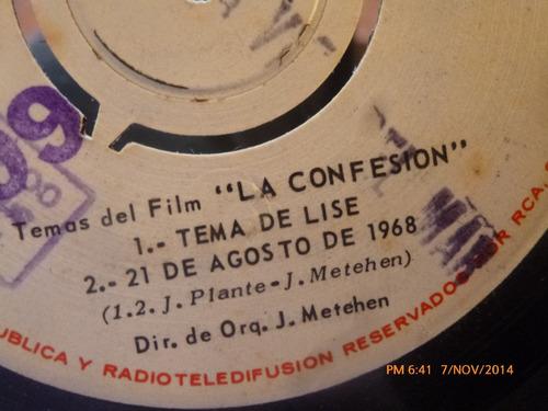 vinilo single de el film la confesion  ( s56