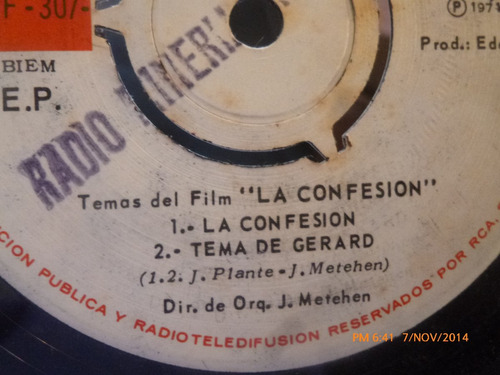 vinilo single de el film la confesion  ( s64