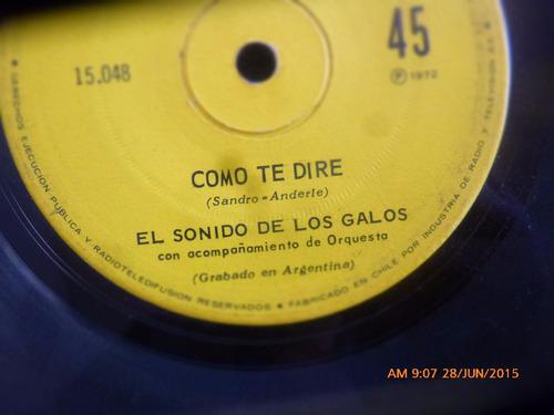 vinilo single de el sonido de los galos -- como te di( n89