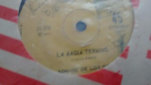 vinilo single de el sonido de los galos  -la magia ter( u73