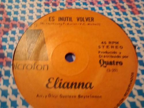 vinilo single de elianna - es inutil volver ( k142