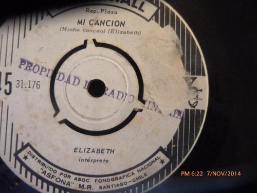 vinilo single de elizabeth -- estoy loca por ti( s150
