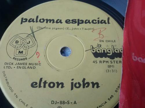 vinilo single de elton john - la vi parada alli  ( s44