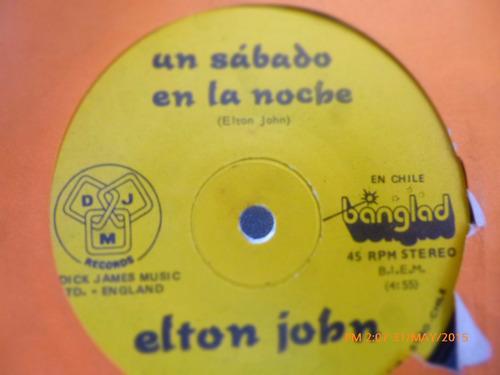vinilo single  de elton john --velas al viento (  h143
